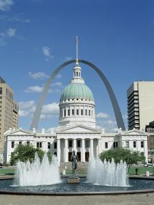 Fountains and Buildings in City of St. Louis, Missouri, United States of America (USA) by Adina Tovy