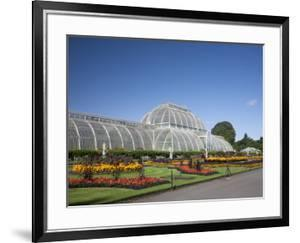 Palm House Parterre with Floral Display, Royal Botanic Gardens, UNESCO World Heritage Site, England by Adina Tovy