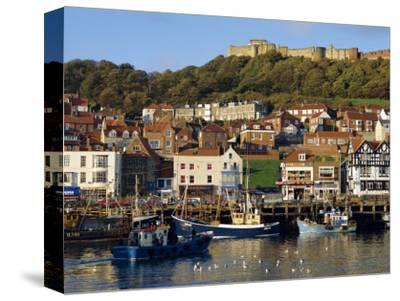 Scarborough, Harbour and Seaside Resort with Castle on the Hill, Yorkshire, England