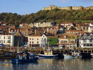 Scarborough, Harbour and Seaside Resort with Castle on the Hill, Yorkshire, England by Adina Tovy