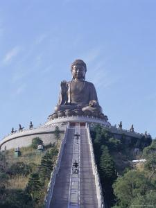 Statue of the Buddha, the Largest in Asia, Po Lin Monastery, Lantau Island, Hong Kong, China, Asia by Adina Tovy
