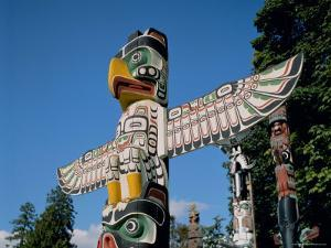 Totem Poles, Vancouver, British Columbia (B.C.), Canada, North America by Adina Tovy
