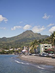 View of Saint-Pierre Showing Mount Pelee in Background, Martinique, Lesser Antilles, West Indies by Adina Tovy