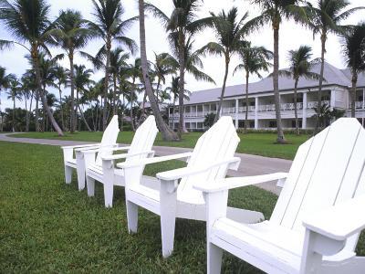 Adirondack Chairs, Ocean Club in Paradise, Atlantis Resort, Bahamas-Bill Bachmann-Photographic Print