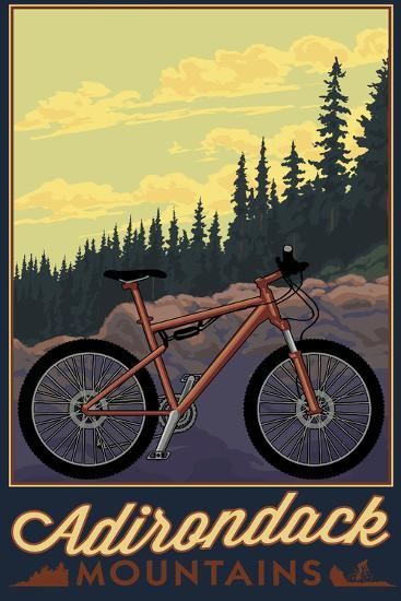 Adirondack Mountains, New York - Ride the Trails-Lantern Press-Wall Mural