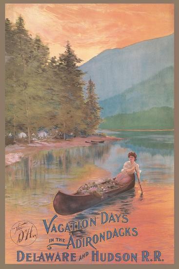 Adirondacks Travel Poster--Art Print