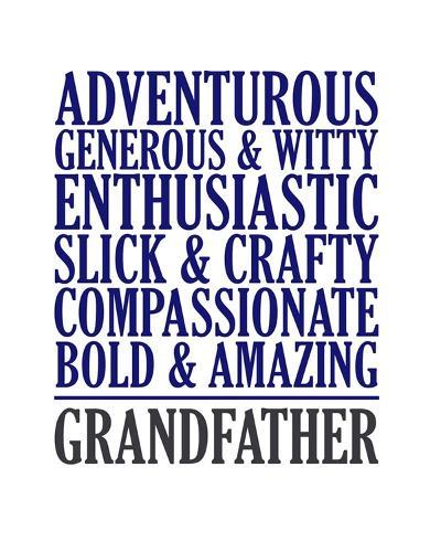 Adjectives for Grandpa-Color Me Happy-Art Print