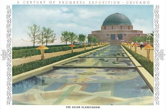 Adler Planetarium, Chicago World Fair Art Print by   Art com