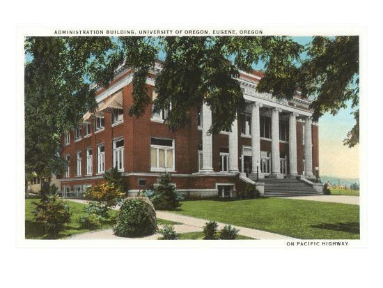 Administration Building, University of Oregon, Eugene--Art Print