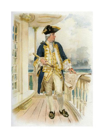 Admiral, 18th Century (C1890-C189)--Giclee Print