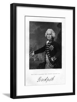 Admiral Alexander Hood (1726-181), 1st Viscount Bridport, 1837-S Freeman-Framed Giclee Print