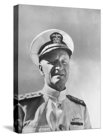 Admiral Chester with Nimitz During WWII