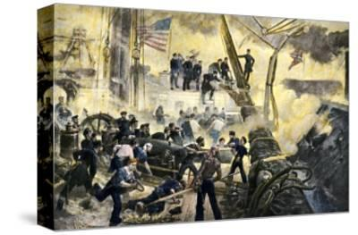 Admiral David G. Farragut in the Rigging during the Battle of Mobile Bay, 1864, American Civil War