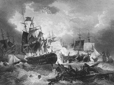 Admiral Duncan's Victory over the Dutch Fleet, North Sea, 11 October 1797-J Rogers-Giclee Print