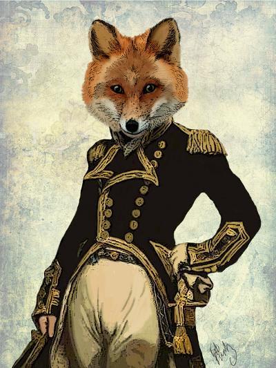 Admiral Fox Full-Fab Funky-Art Print