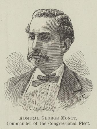 Admiral George Montt, Commander of the Congressional Fleet--Giclee Print