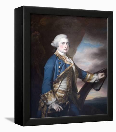 Admiral Harry Paulet-Francis Cotes-Framed Stretched Canvas Print