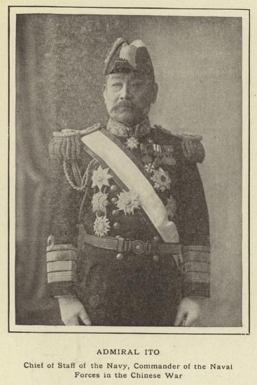 Admiral Ito, Chief of Staff of the Navy, Commander of the Naval Forces in the Chinese War--Photographic Print