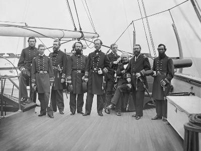 Admiral John A. Dahlgren and His Officers During the American Civil War-Stocktrek Images-Photographic Print