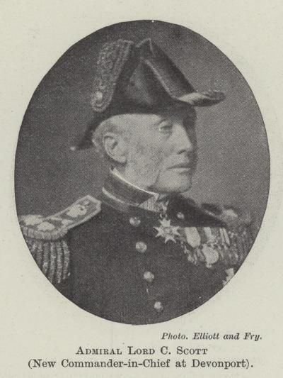 Admiral Lord C Scott, New Commander-In-Chief at Devonport--Giclee Print