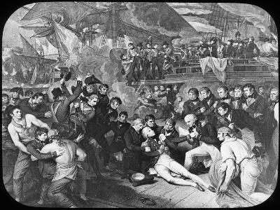 Admiral Lord Nelson Wounded at the Battle of Trafalgar, 1805-Newton & Co-Giclee Print