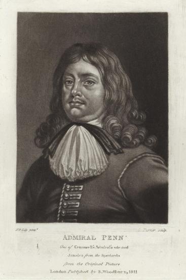 Admiral Penn-Sir Peter Lely-Giclee Print