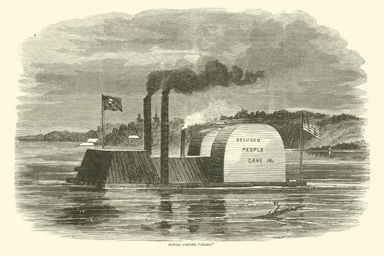 "Admiral Porter's ""Dummy"", February 1863--Giclee Print"