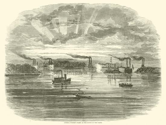 Admiral Porter's Fleet at the Mouth of the Yazoo, December 1862--Giclee Print