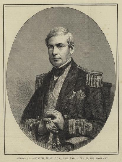 Admiral Sir Alexander Milne, Gcb, First Naval Lord of the Admiralty--Giclee Print