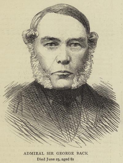 Admiral Sir George Back--Giclee Print