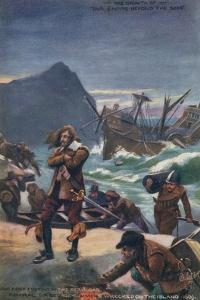 Admiral Sir George Summers Shipwrecked on Bermuda, 1609