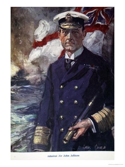 Admiral Sir John Jellicoe, Illustration from Told in the Huts: The YMCA Gift Book, Published 1916-Cyrus Cuneo-Giclee Print