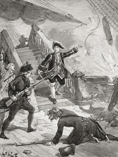 Admiral Suffren in the Indian Ocean During His Campaign Against the English in the 18th Century--Giclee Print