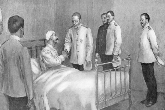 Admiral Togo Visiting Russian Admiral Rozhestvensky in Hospital, Russo-Japanese War ,1904-5--Giclee Print