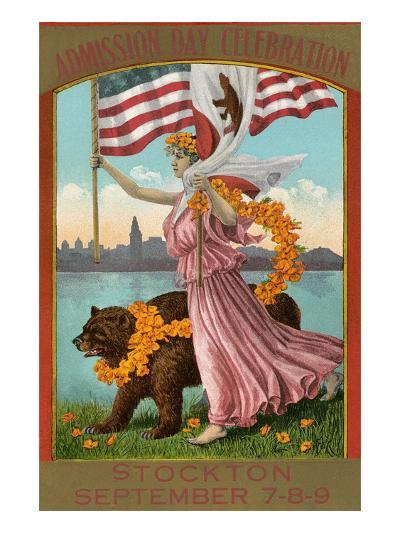Admission Day Poster, Stockton--Art Print