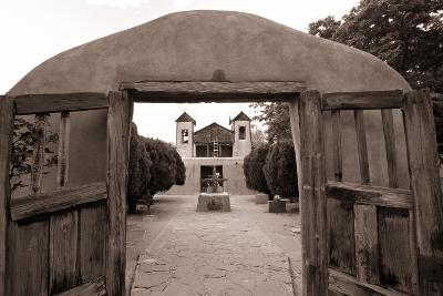 Adobe Church Of Chimayo, New Mexico-George Oze-Photographic Print