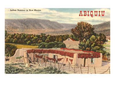 Adobe House, Abiquiu, New Mexico--Art Print