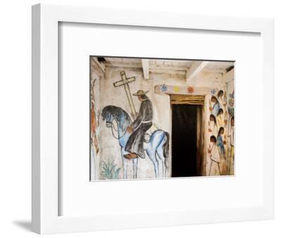 Adobe Mission Interior, De Grazia Gallery in Sun, Tucson, Arizona-Richard Cummins-Framed Photographic Print