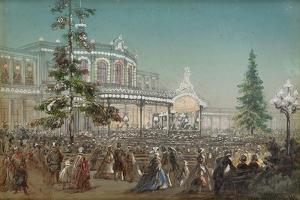 Celebration of the 25th Anniversary of Tsarskoe Selo Railroad, 1862 by Adolf Charlemagne