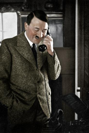 Adolf Hitler on the telephone, January 1935-Unknown-Photographic Print