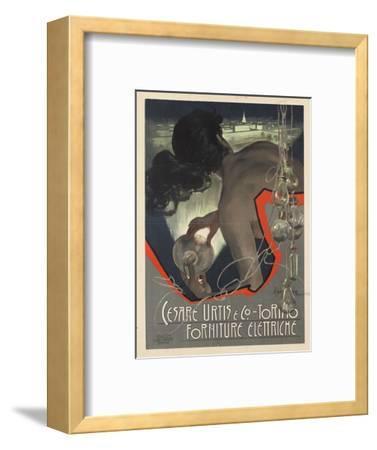 Werbeplakat für den italienischen Leuchtmittelhersteller 'Cesare Urtis & Co.' 1889