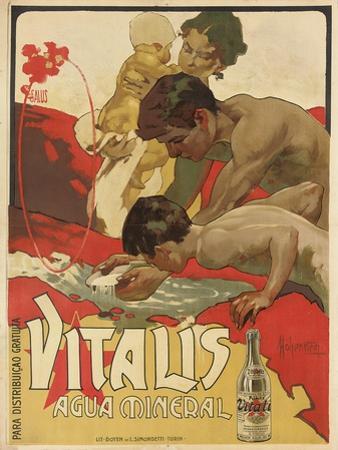 Werbung für das Mineralwasser 'Vitalis'. 1895 by Adolf Hohenstein