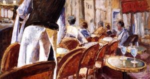 Cafe Terrace by Adolf Llovera