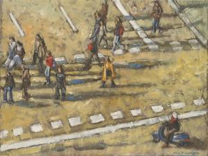 Taxis And Zebra Crosswalk III by Adolf Llovera