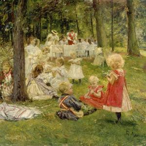 Kindergeburtstag by Adolf Maennchen