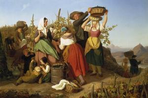 Grape Harvest, 1842 by Adolf Richter