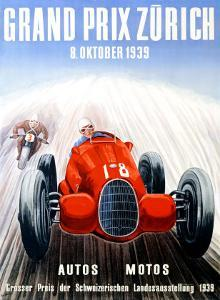 Grand Prix Zurich, 1939 by Adolf Schnider
