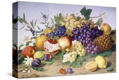 Still Life of Grapes, Pineapple, Figs and Pomegranates