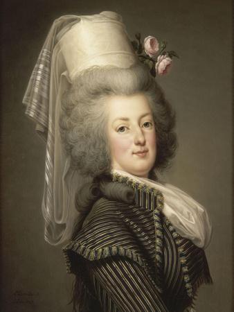 Marie-Antoinette de Lorraine-Habsbourg, reine de France, en habit d'amazone en 1788 (1755-1793)