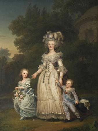 Queen Marie Antoinette with her Children in the Park of Trianon, 1785